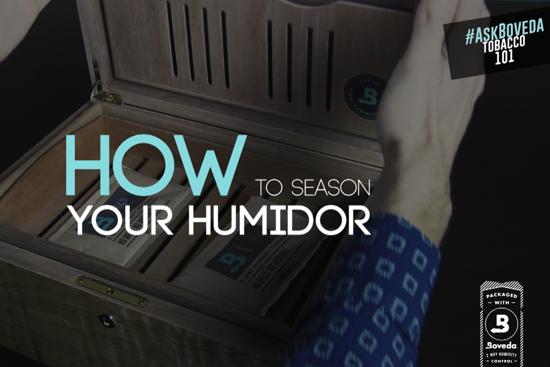 how to season a humidor